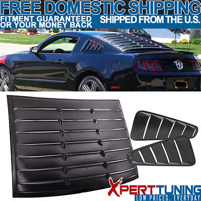 05-09 Ford Mustang Vintage Style Quarter Side + Rear Window Louver Visor -ABS