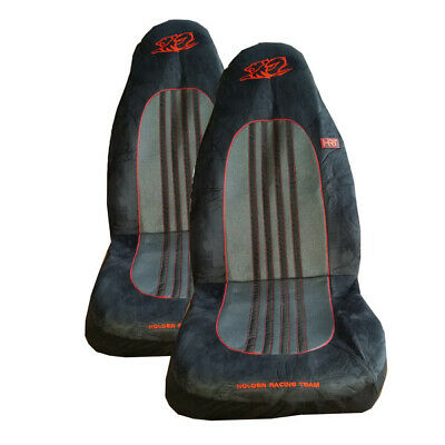 Holden Racing Team Hrt Seat Covers Front Pair Black Grey Airbag Safe Panaroma