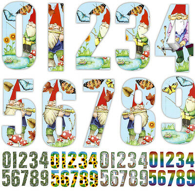 """7"""" Wheelie Bin House Numbers Wheely Stickers Self Adhesive Sticky Sticker Number"""
