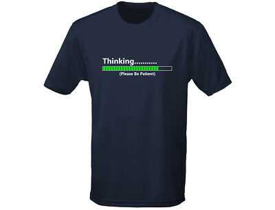 Thinking Please Wait Funny Mens T-Shirt (12 Colours)