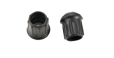 """2 Pack Steel Reinforced  7/8"""" Rubber Tips- Cane, Crutch or Chair CTR-875-B"""