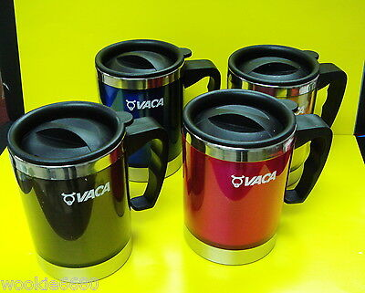 VACA Colorful Stainless Steel Mug Set 4 Pieces 0.45 Litre for Office and Home