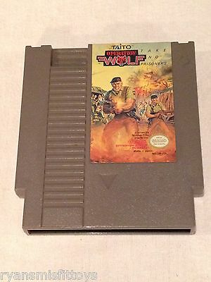 Operation Wolf  (NES, 1989) Nintendo Video Game Taito 1988 CARTRIDGE ONLY