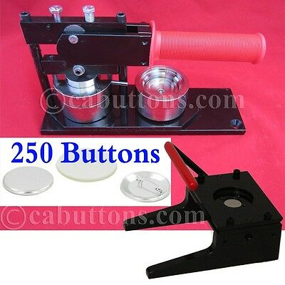 "1-3/4"" inch Tecre Standard Heavy Duty Button Maker Machine + Punch + 250 Parts"