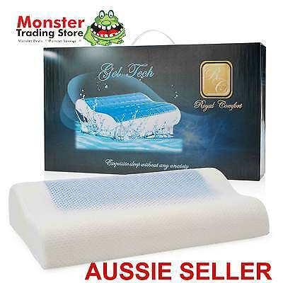 AUSSIE SELLER BRAND NEW 2 x ROYAL COMFORT GELTECH GEL MEMORY FOAM PILLOW CONTOUR