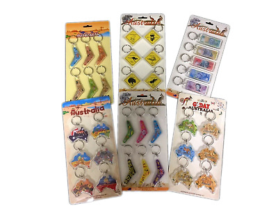 23 x  Australian Souvenir Keyring Keyrings  Assorted  wholesale bulk Brand New