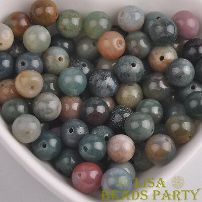 India Agate Gemstone Natural Gem Stone Round Loose Spacer Beads 6/8/10/12mm