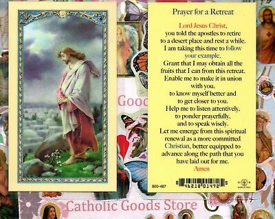 Prayer for a Retreat - Laminated Holy Card