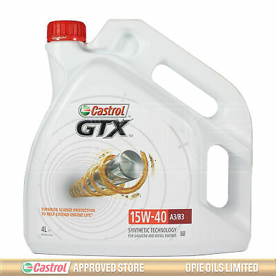 Castrol GTX 15w-40 A3/B3 Part Synthetic Engine Oil - 4 Litres