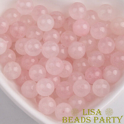 Light Pink Natural Rose Quartz Gemstone Loose Spacer Beads 6~16mm Wholesale Bulk
