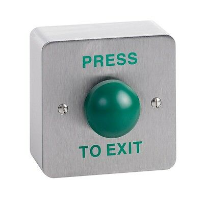 Surface Mounted Exit Button with Large Green Dome for Access Systems