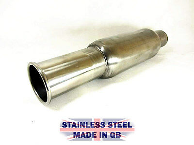 "3.5"" Body Universal Stainless Steel Bomb Exhaust Silencer Back Box tailpipe"