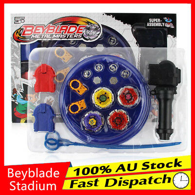 4D Metal Master Rapidity Fusion Fight Rare Beyblade Stadium Launcher Grip Set