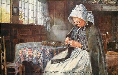 Anne Hathaway's Cottage Tuck's     Oilette   Uncirculated