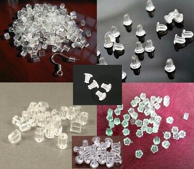 Earring Back Stopper Silicone Rubber  MANY SHAPES High Quality Soft US SELLER