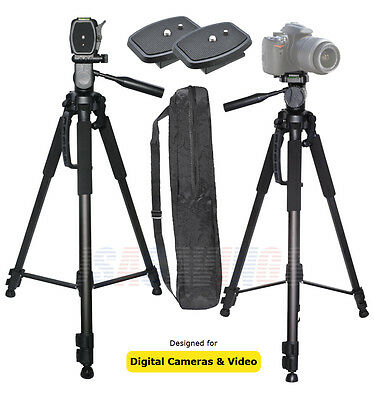 """TRIPOD 72"""" with Two (2) Quick Realese Plates FOR CAMERAS and CAMCORDERS"""