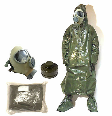 New Czech Army CM4 Gas Mask, Czech Chemical Suit & NBC Filter - Military Surplus
