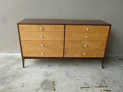 Restored Planner Group Paul Mccobb Long Chest W 8 Drawers