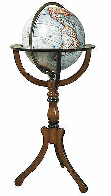 Authentic Models Library World Globe with Floor Stand Antique Reproduction