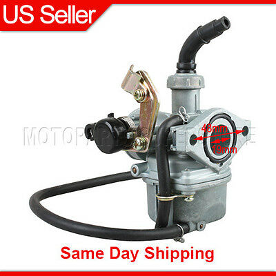19mm Carburetor Choke 50cc 70cc 90cc 110cc ATV Go Kart Dirt Bike Carb Sunl PZ19
