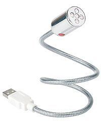 Lampe USB flexible 5 LED blanches