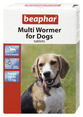 Beaphar Multi Wormer For Dogs, Treatment Against Roundworm And Tapeworm