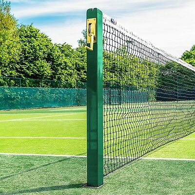 Vermont Square Tennis Net Posts - With Ground Sockets [Net World Sports]