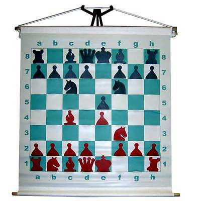 LARGE DEMO DEMONSTRATION CHESS BOARD FOR SCHOOL NEW IN CARRYING BAG