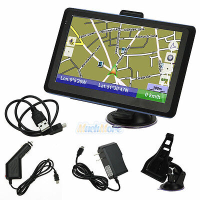 New 7-Inch TF Built-in 4GB TF Car GPS Navigator USA Canada and Mexico Map