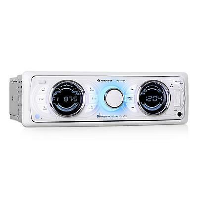 Brand New White Car Stereo 1 Din Radio Usb Aux Bluetooth * Free P&p Uk Offer *