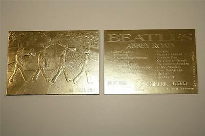 BEATLES ABBEY ROAD Album Cover Sculpted 23KT Gold Card NM-MT Limited * BOGO *