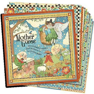 """Graphic 45 """"mother Goose"""" 12X12 Paper (12 Sheets) Nursery Baby Scrapjack's Place"""