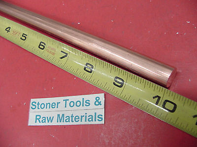 """1/2"""" C110 COPPER ROUND ROD 10"""" long H04 Solid .50"""" OD CU New Lathe Bar Stock"""