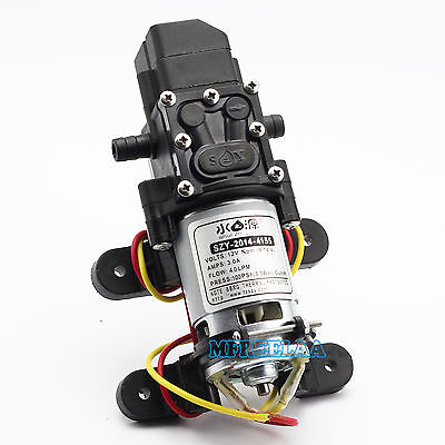100PSI DC12V 4L/Min Solid Electric Diaphragm Water Pump Self Priming for RV Boat