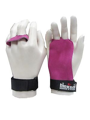 Ladies Leather Palm Grips Cross Pink Fitness Crossfit Training Women Gym