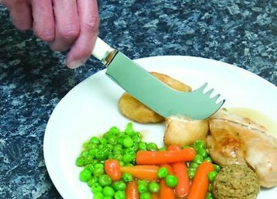 Nelson Knife - Rocker Knife - Combined Knife And Fork - For One Handed Eating