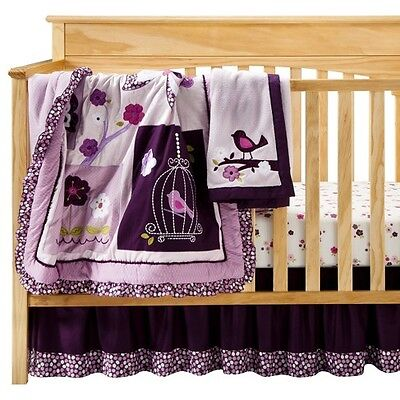Lambs & Ivy Plumberry 5 Piece Bedding Set