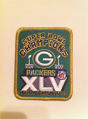 NFL GREEN BAY PACKERS XLV SUPER BOWL CHAMPIONS JERSEY PATCH