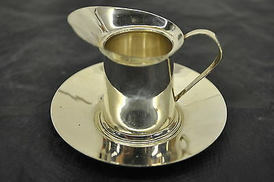 Sterling Silver Personal Creamer cup with plate