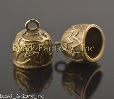 Wholesale 10Pcs Charms Bead End Cap Stopper Fit 12mm Cord Leather Craft Necklace