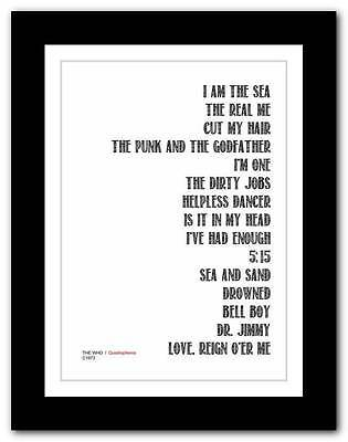❤ THE WHO - Quadrophenia ❤ typography poster art print - A3 A2 A1 A4