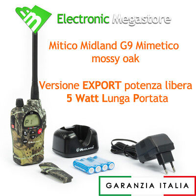 Ricetrasmettitore Midland G9 Waterproof Mimetica Dual Band Pmr Lpd Ver Export 5W
