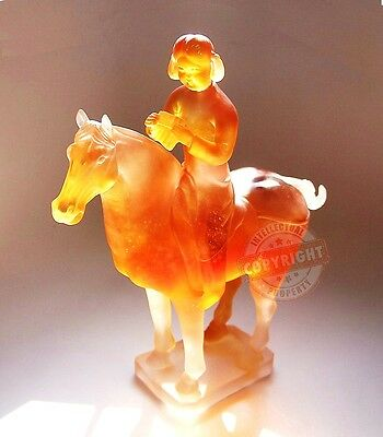 DAUM CRYSTAL MUSICIAN ON HORSE MUSEUM GERNUSHI LIMIDED 288 FRANCE SIGNED BOX NEW