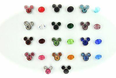 FLOATING LOCKET CHARMS FITS ALL LOCKETS BIRTHSTONES MICKEY MINNIE MOUSE EARS