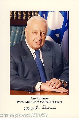 Ariel Sharon ++Autogramm++ ++Isreal. Minister++