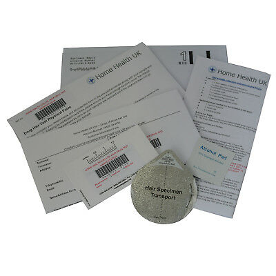 Hair Drug Test Kit for Cannabis Cocaine & more Max 90 Day History-POSTAL EXPRESS