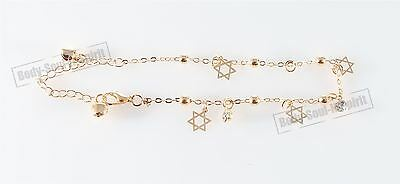 Dangle Star of David Ankle Foot leg Fashion Bracelet charm adjustable Jewelry