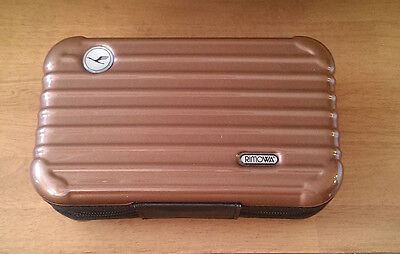 Rimowa amenity Kit for LUFTHANSA Airline First Class BROWN Case Only GERMANY