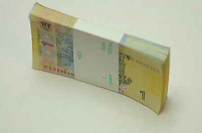 Ukraine 1 Hryvnia  Foreign Paper Money Banknote Currency Uncirculated