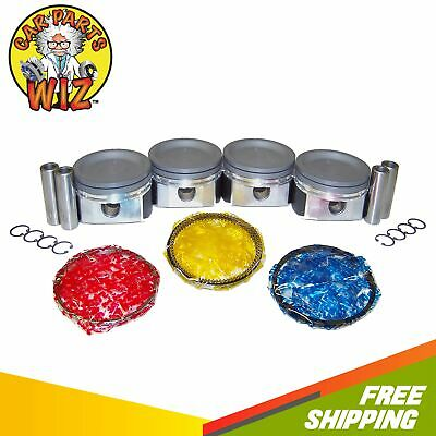 Pistons and Rings Fits 04-07 Suzuki Aerio 2.3L DOHC 16v J23A Cu. 140